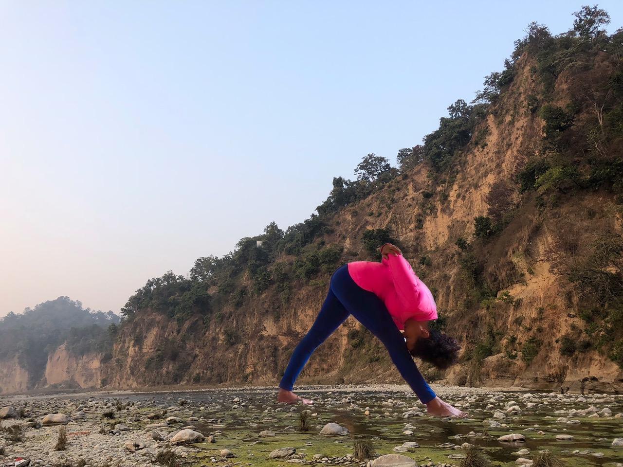 Intensive Flankendehnung am Ganges